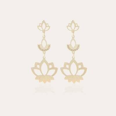 Lotus Gold Earrings