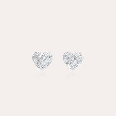 Bridal Gold Heart Earrings