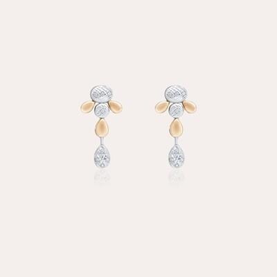Bridal Earrings Mixed Gold