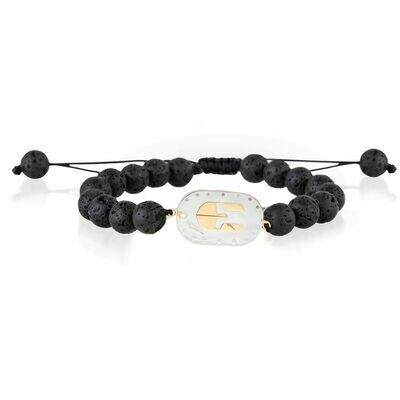 Spartan Bracelet Mixed Gold & Lava