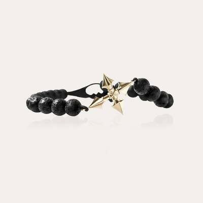 Arrow Cross Bracelet Gold & Lava