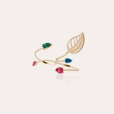 Leaves Ring Gold & Semi Precious