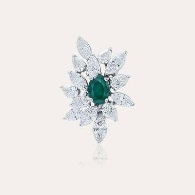 Classic Ring Diamond & Emerald