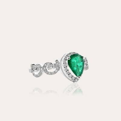 Eternal Ring Diamond & Emerald