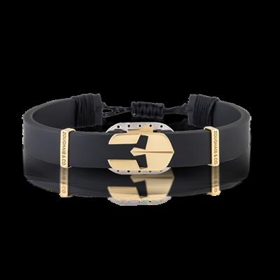 Spartan Bracelet Gold & Rubber