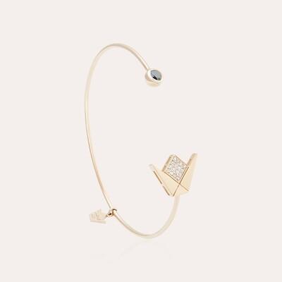 Emblem Bangle Pink Gold & Diamonds