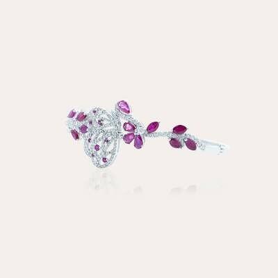 Bridal Bangle Diamond & Ruby