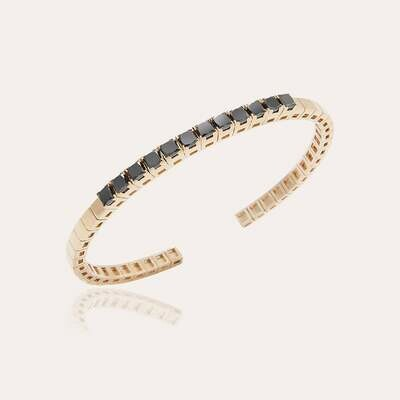 Classic Bangle Gold with Black Diamonds