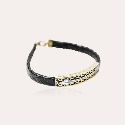 Arrow Leather Bracelet Gold