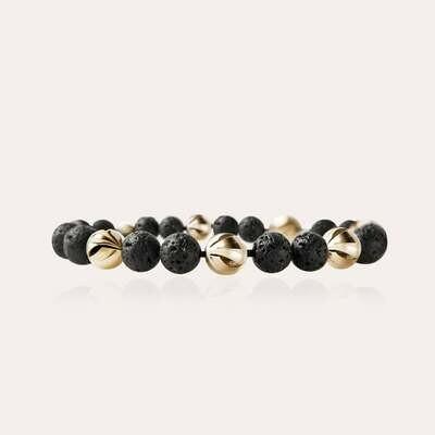 Arrow Bracelet Gold & Lava
