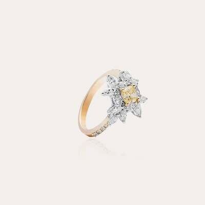 Bridal Ring Gold with Diamond & Fancy