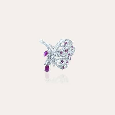Bridal Ring Diamond & Ruby