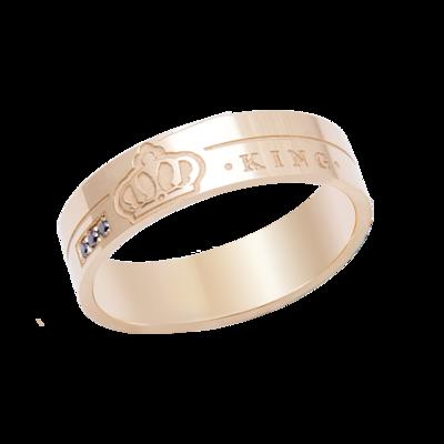 Wedding Band Gold & Black Diamond