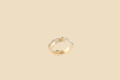 Wedding Band Gold & Diamond