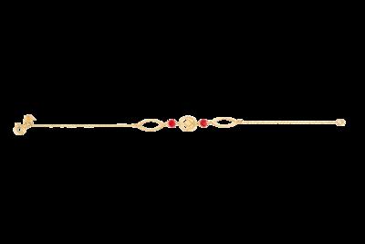 Emblem Bracelet Gold with Semi Precious