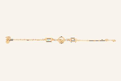 Gold Emblem Bracelet