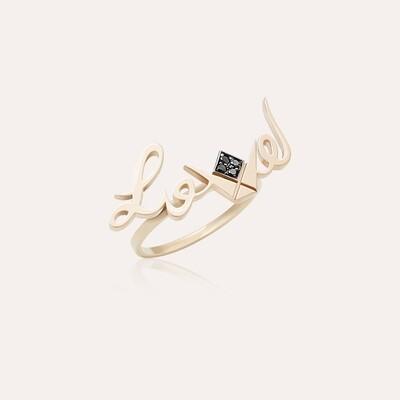 Love Ring Gold & Black Diamond