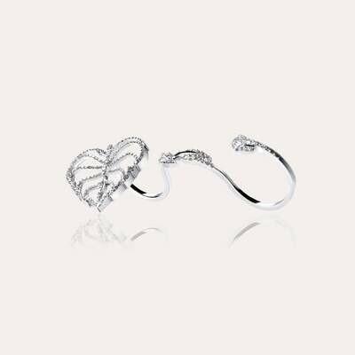Leaves Ring White Gold & Diamond
