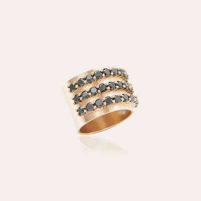 Eternal Ring Gold & Black Diamond
