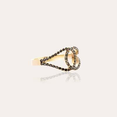 Classic Ring Gold & Black Diamond