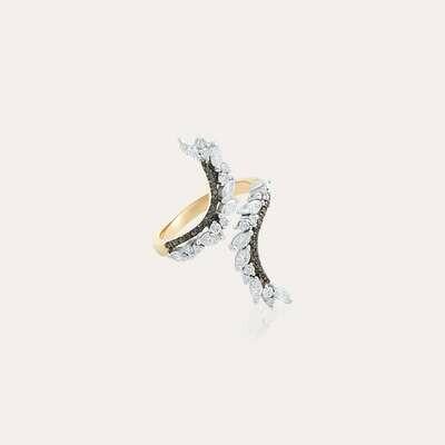 Eternal Ring Gold with White & Black Diamond