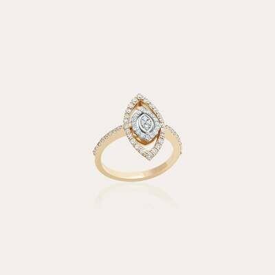 Classic Ring Mixed Gold & Diamond