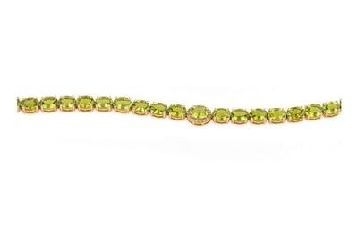 Classic Bracelet Green Semi Precious