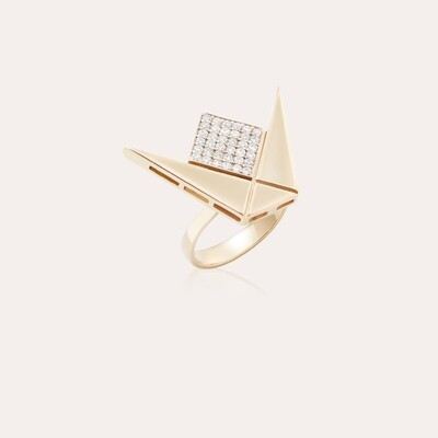 Emblem Ring Gold & Diamond