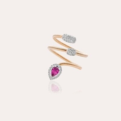 Eternal Ring Gold with Diamond & Ruby