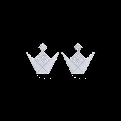 Emblem Earrings White Gold & Diamond