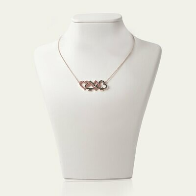 Gold Fancy Diamond Necklace with Ruby