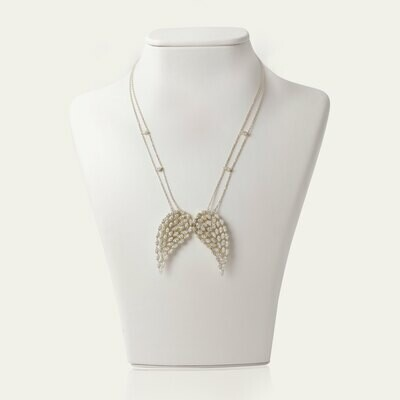 Wings Diamond Gold Necklace with Marquise