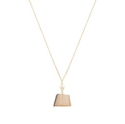 Tarboush Pink Gold Necklace