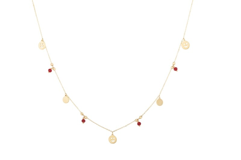 Necklace Gold with Semi Precious