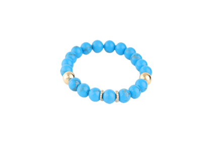 Bracelet Turquoise with Gold and Diamond