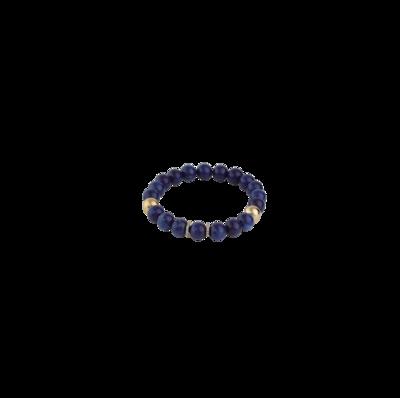 Bracelet Gold African Sodalite Stones with Diamond