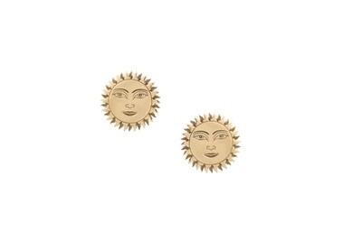Zodiac Gold Sun Earrings