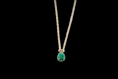 Gold Necklace with Semi Precious