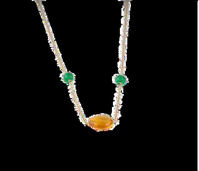 Necklace Gold with Semi Precious