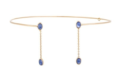 Necklace Gold with Sapphire