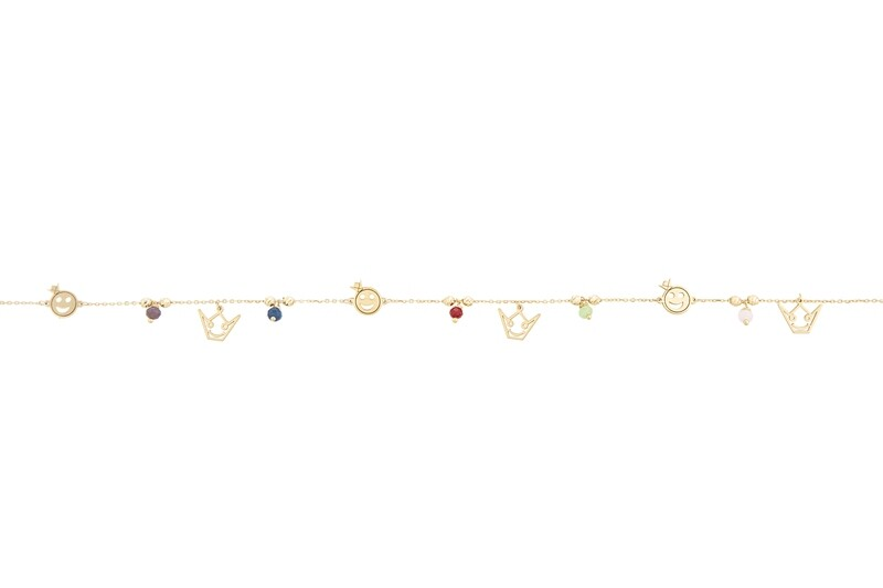 Anklet Gold with Semi Precious