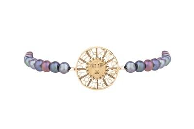 Zodiac Gold Bracelet with Pearls