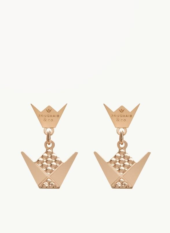 Gold Emblem Earrings