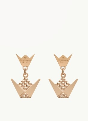 Gold Emblem Earrings