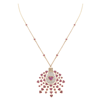 Necklace Diamond Light Love with Ruby
