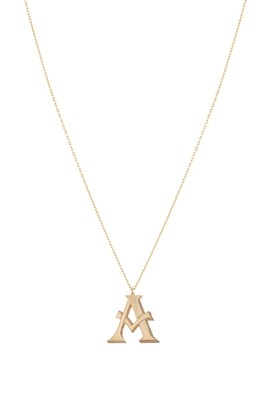 Love Roulette Gold Necklace Letter A