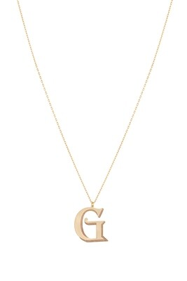 Love Roulette Gold Necklace Letter G