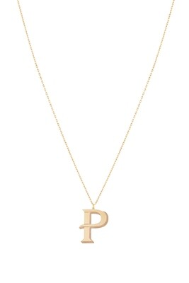Love Roulette Gold Necklace Letter P