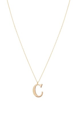Love Roulette Gold Necklace Letter C