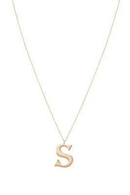 Love Roulette Gold Necklace Letter S